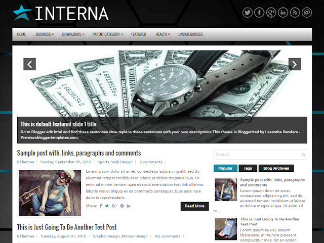 Interna Blogger Template