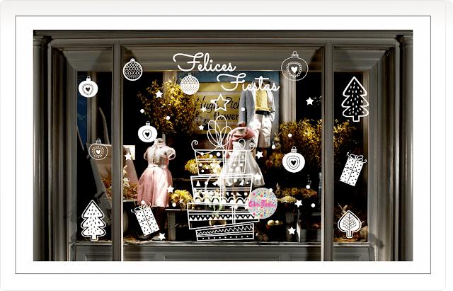 vinilos navidad,vinilos navideños, fiestas, trineo, regalos, estrellas, vidrieras fin de año