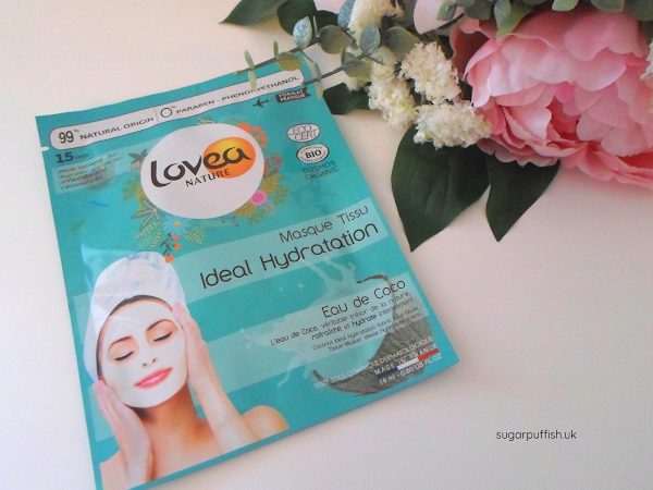 Review: Lovea Ideal Hydration Organic Coconut Fabric Face Mask