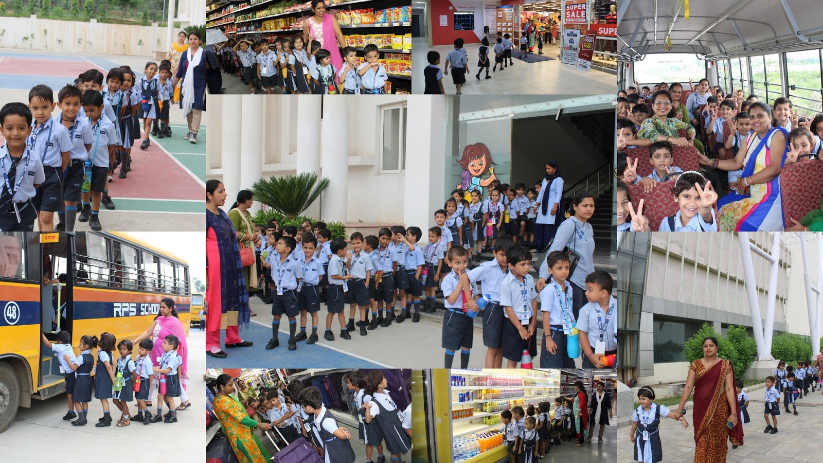 Kids Visited Big Bazaar In Genesis Mall Rps Dharuhera Kindergarten