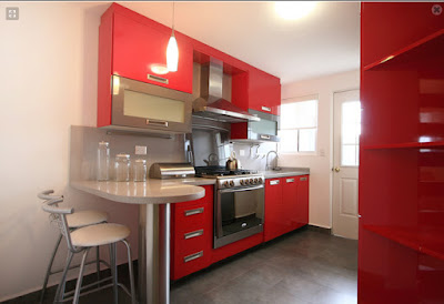 Decoraci n minimalista y contempor nea cocina roja for Casa minimalista roja