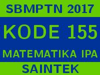 Soal dan Pembahasan SBMPTN 2017 Matematika Saintek
