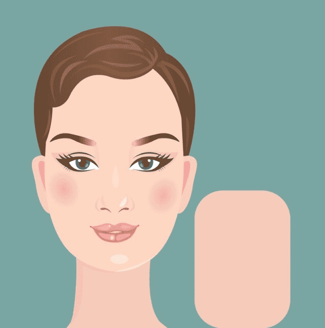 شكل الوجه الطويل أو المستطيل