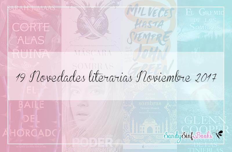 novedades literarias noviembre 2017 libros