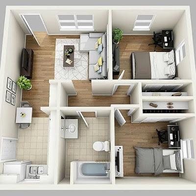 desain rumah unik dan sederhana