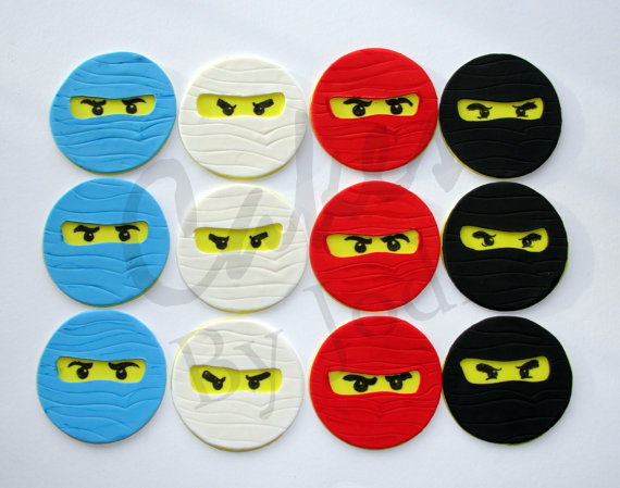 Simplyiced Party Details Ninjago Cupcake Toppers