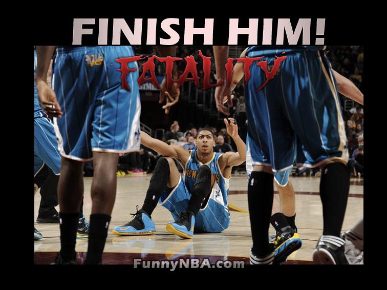 Finishin Him! In NBA - The Mortal Kombat Edition