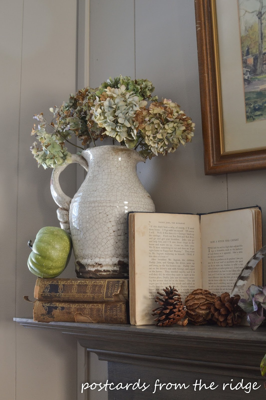 Love this! Lots of tips for using vintage and farmhouse style decor for fall.