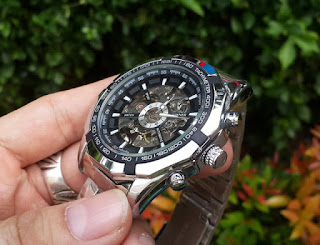 Jam Tangan Automatic Mechanical Winner 340 Men Skeleton Sport Watch Relogio Masculino
