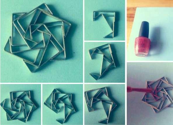 hexagrama con grapas, manualidades, grapas, tutoriales