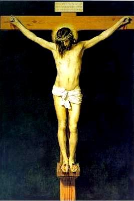 Imagen de Jesus crucificado a colores