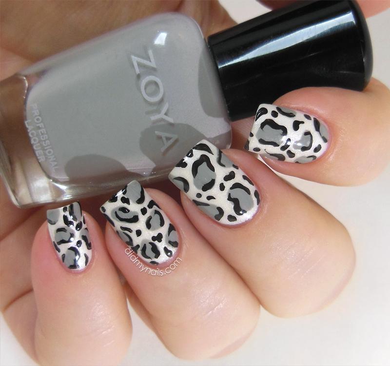 Did My Nails: Snow Leopard Nail Art