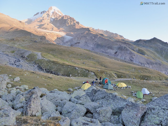 The first camp, Kazbek, www.MATTrail.com