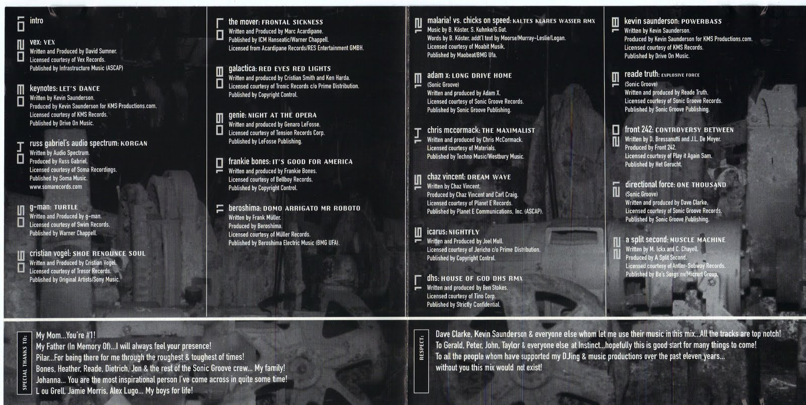 cd liner notes template word - front 242 collector compilation of the week adam x on