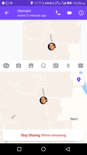 How to share live location on Facebook messenger