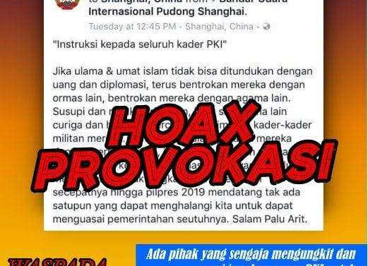 Waspada HOAX Video PKI Bangkit Lagi