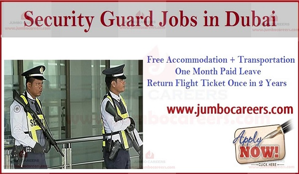 Walk In Interview in Dubai Today for Security Guards