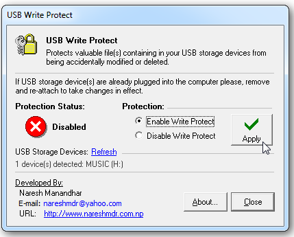 Remove USB Write protected.