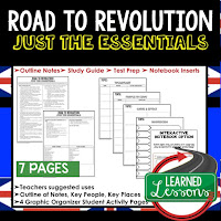 Road to Revolution, World History Outline Notes, World History Test Prep, World History Test Review, World History Study Guide, World History Summer School Outline, World History Unit Overview, World History Interactive Notebook Inserts