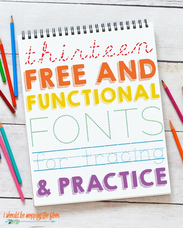 13 Free Traceable Fonts I Should Be Mopping The Floor