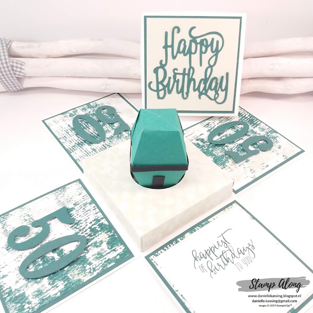 Stampin' Up! Explosionbox, Tranquil Textures DSP