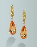 Image showing Imperial topaz drop earrings