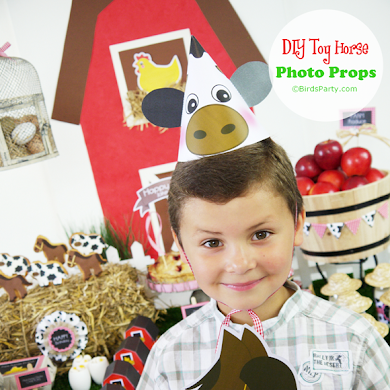 DIY Toy Horse Barnyard Birthday Photo Booth Props