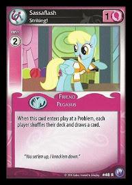 My Little Pony Sassaflash, Striking! Canterlot Nights CCG Card