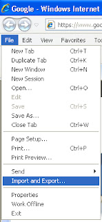 طريقة حفظ و إستعادة مفضلة متصفح انترنت اكسبلور بعد فرمتة الجهاز