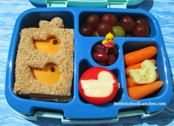 Duck bento school lunch, Bentgo kids