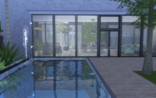 maison avec piscine pour sims 4