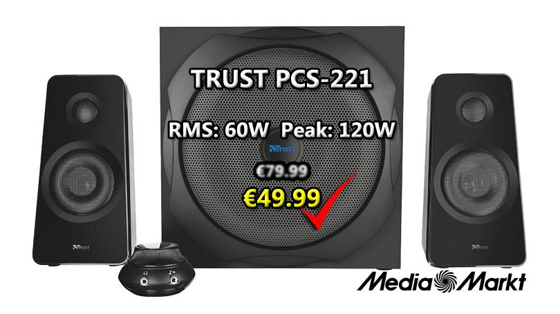 Προσφορά - Ηχεία H/Y 2.1 TRUST PCS 120w