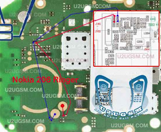 Ringer Loud Speaker Problem Nokia 206 Solution. check this Red Mark line you can solve this problem. nokia Speaker problems nokia ringer problem nokia 110 ringer problem.