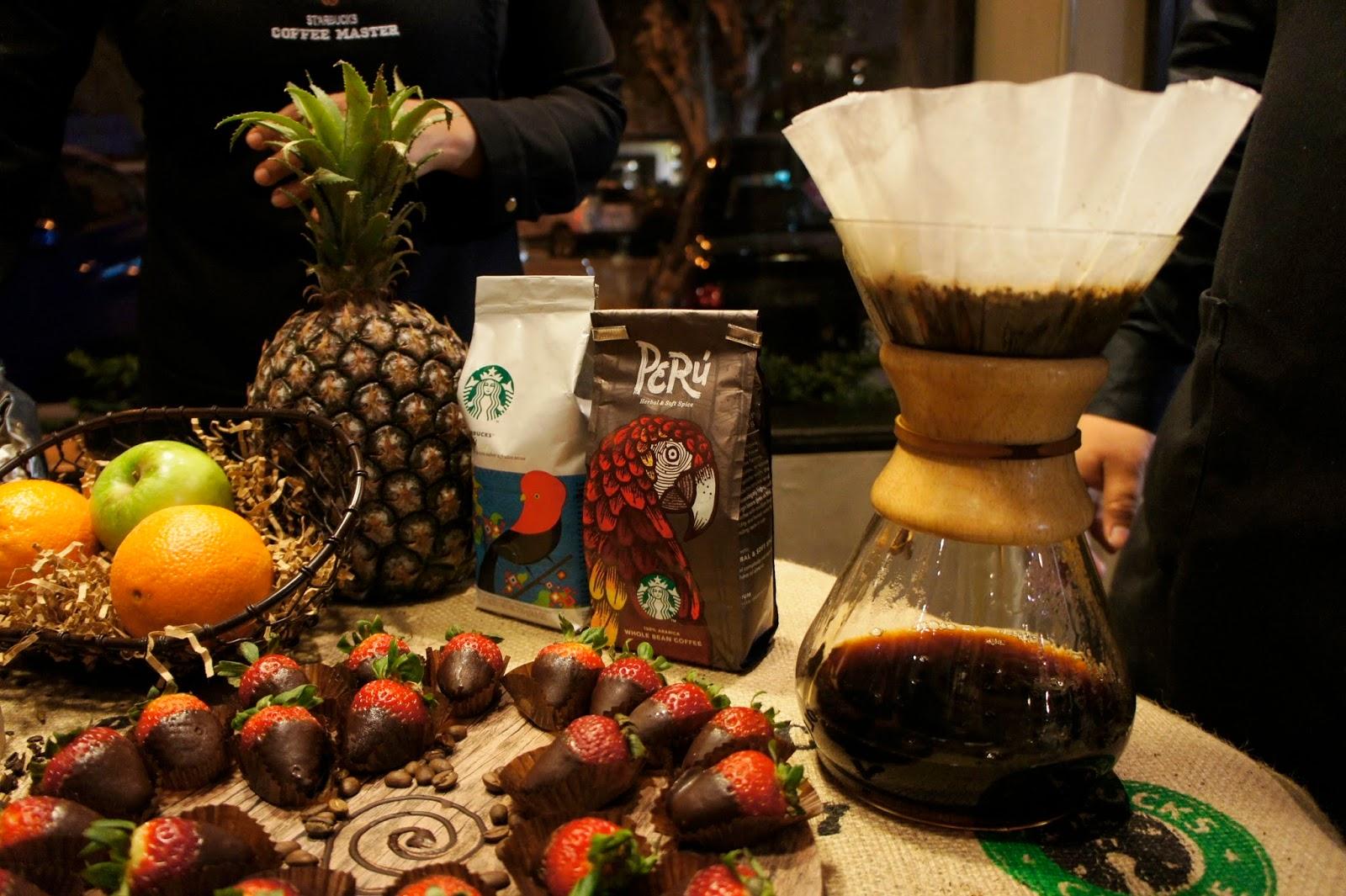Café Perú, Starbucks, Chemex