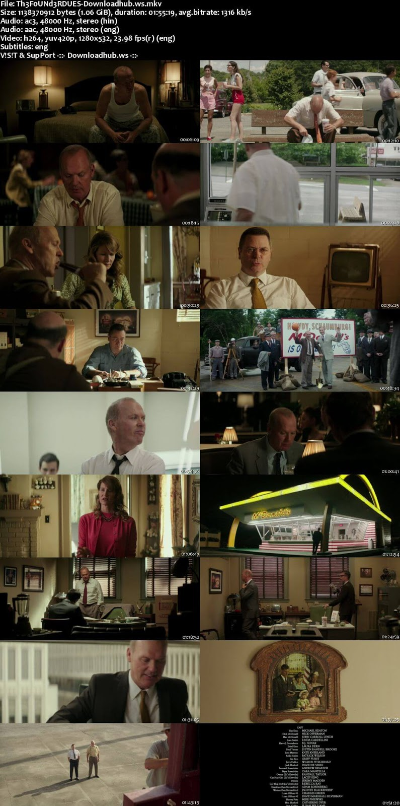 The Founder 2016 Hindi Dual Audio 720p BluRay Free Download