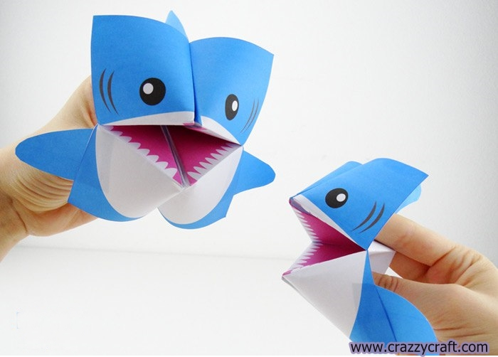 How To Make Paper Shark Crazzy Craft