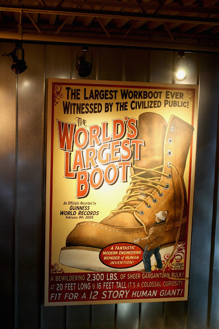 Red Wing Shoe's World's Largest Boot sign