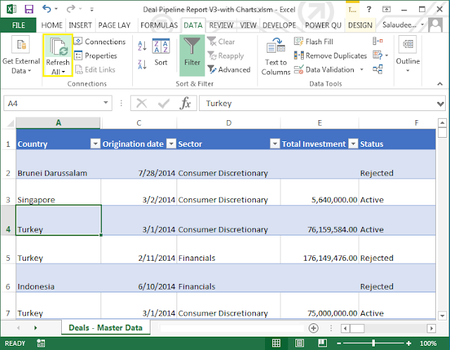 query sharepoint list using excel