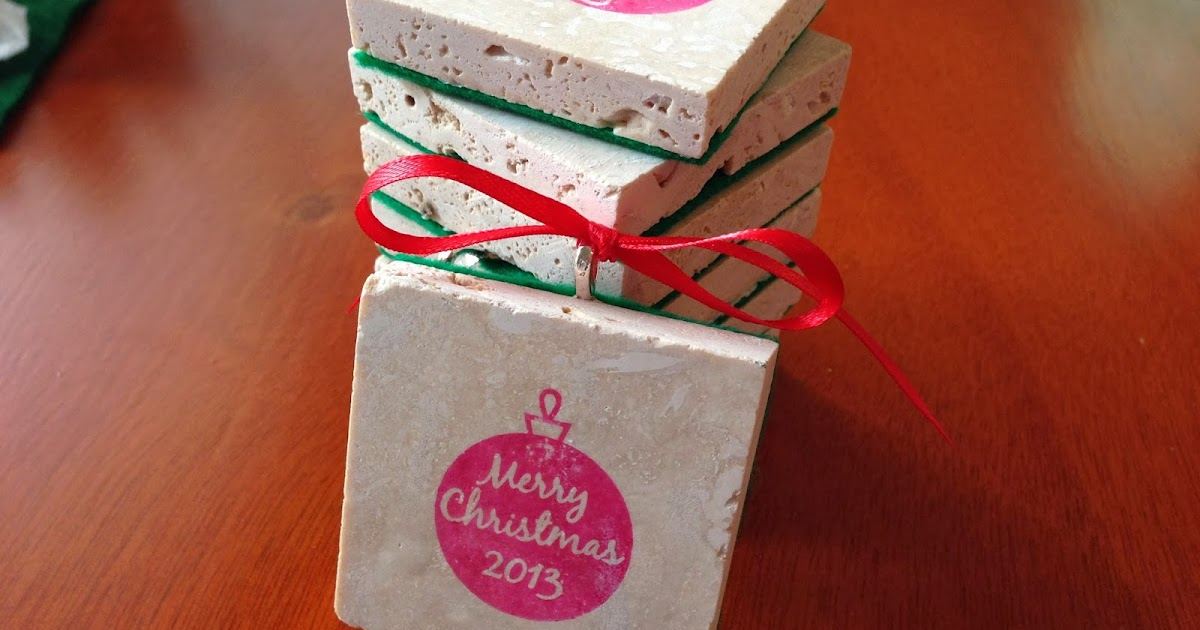 Cupcake Tree Designs Hand Stamped Christmas Ornament Tiles