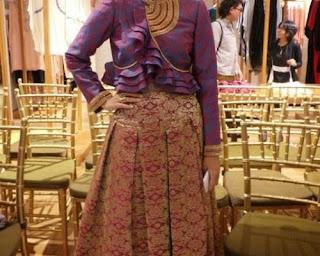 model baju songket untuk orang gemuk