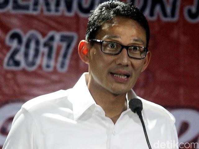 PD: Sandi Bayar PAN-PKS Rp 500 M untuk Jadi Cawapres Prabowo