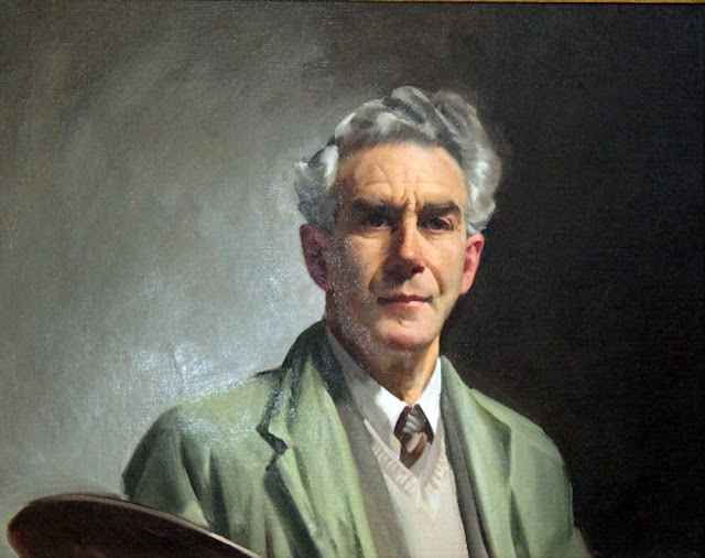 Ernest William Buckmaster, Self Portrait, Portraits of Painters, William Buckmaster, Fine arts, Portraits of painters blog, Paintings of Ernest William Buckmaster, Painter   Ernest William Buckmaster