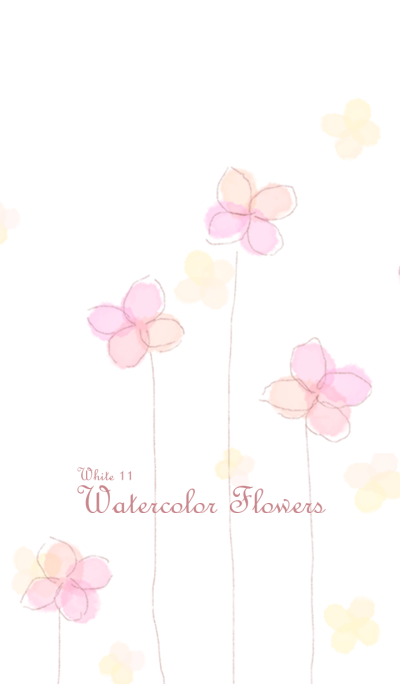 Watercolor Flowers/White11