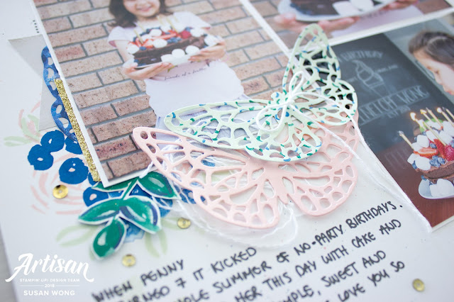 Abstract Impressions Stamp Set by Stampin' Up! - Susan Wong - Scrapbook Page