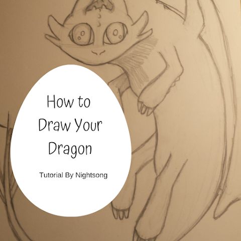 How to Draw Your Dragon - Tutorial by Nightsong - Royals Lesson!
