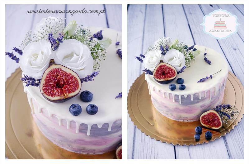 drip cake z kwiatami Warszawa na urodziny dla dziewczyny
