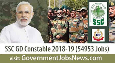 SSC GD Constable Recruitment 2018-19 Apply Online (54593 Vacancies)