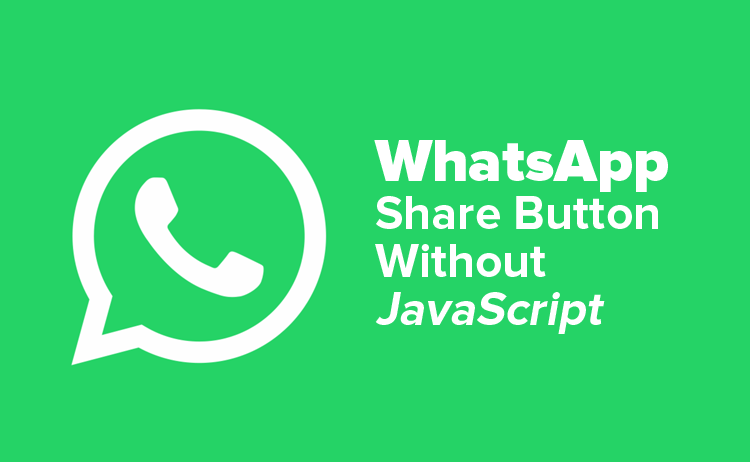 Membuat Tombol Share WhatsApp Tanpa JavaScript