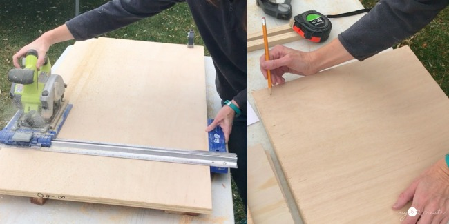 using  a Kreg rip cut to cut plywood