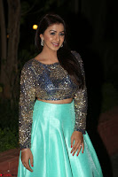 Nikki Galrani in Green Skirt  Top at Marakathamani music launch ~  Exclusive (52).JPG